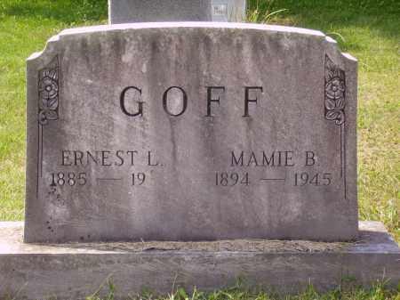 GOFF, ERNEST L. - Meigs County, Ohio | ERNEST L. GOFF - Ohio Gravestone Photos