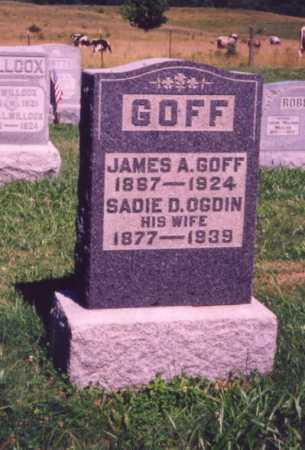 OGDIN GOFF, SADIE D. - Meigs County, Ohio | SADIE D. OGDIN GOFF - Ohio Gravestone Photos