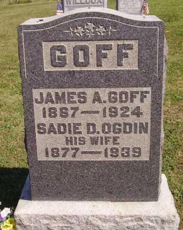 GOFF, JAMES A. - Meigs County, Ohio | JAMES A. GOFF - Ohio Gravestone Photos