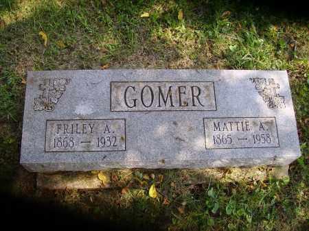 GOMER, MATTIE A. - Meigs County, Ohio | MATTIE A. GOMER - Ohio Gravestone Photos