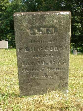 GORBY, ANN - Meigs County, Ohio | ANN GORBY - Ohio Gravestone Photos