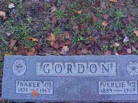GORDON, BAKER O. - Meigs County, Ohio | BAKER O. GORDON - Ohio Gravestone Photos