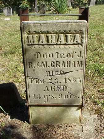 GRAHAM, MAHALA - Meigs County, Ohio | MAHALA GRAHAM - Ohio Gravestone Photos