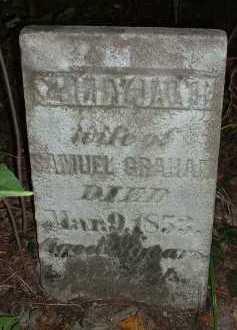 GRAHAM, SALLY JANE - Meigs County, Ohio | SALLY JANE GRAHAM - Ohio Gravestone Photos