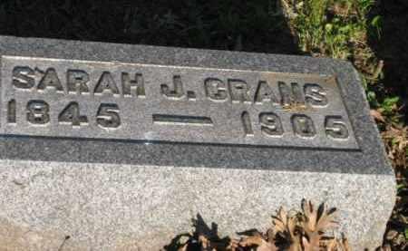 GRANS, SARAH J - Meigs County, Ohio | SARAH J GRANS - Ohio Gravestone Photos