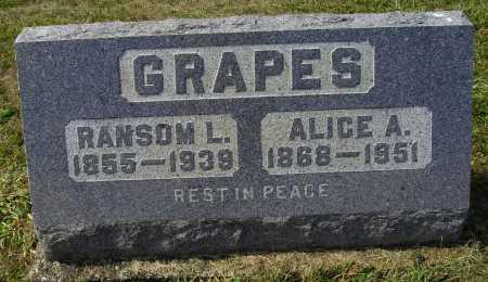 GRAPES, ALICE A. - Meigs County, Ohio | ALICE A. GRAPES - Ohio Gravestone Photos