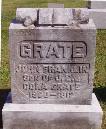 GRATE, JOHN FRANKLIN - Meigs County, Ohio   JOHN FRANKLIN GRATE - Ohio Gravestone Photos