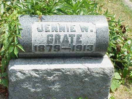 GRATE, JENNIE W. - Meigs County, Ohio   JENNIE W. GRATE - Ohio Gravestone Photos