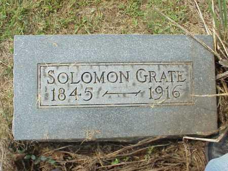GRATE, SOLOMON - Meigs County, Ohio | SOLOMON GRATE - Ohio Gravestone Photos