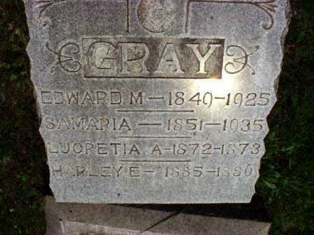 GRAY, LUCRETIA A. - Meigs County, Ohio | LUCRETIA A. GRAY - Ohio Gravestone Photos