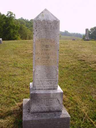 GREEN, MARTHA - Meigs County, Ohio | MARTHA GREEN - Ohio Gravestone Photos