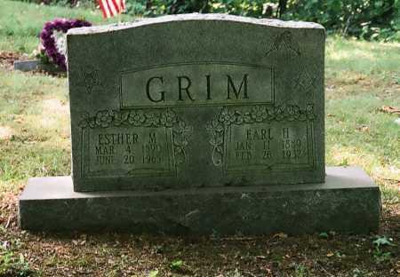 GRIM, ESTHER M. - Meigs County, Ohio   ESTHER M. GRIM - Ohio Gravestone Photos