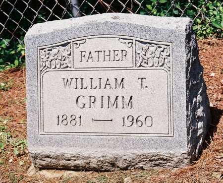 GRIMM, WILLIAM T. - Meigs County, Ohio   WILLIAM T. GRIMM - Ohio Gravestone Photos