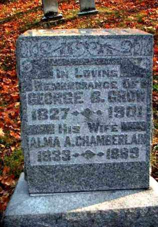 CHAMBERLAIN GROW, ALMA A. - Meigs County, Ohio | ALMA A. CHAMBERLAIN GROW - Ohio Gravestone Photos