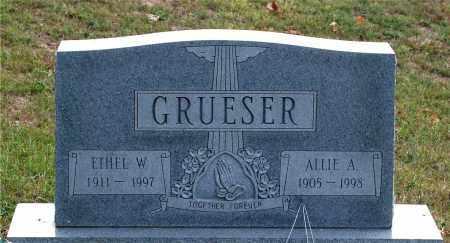 GRUESER, ALLIE A. - Meigs County, Ohio | ALLIE A. GRUESER - Ohio Gravestone Photos