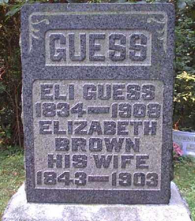 BROWN GUESS, ELIZABETH - Meigs County, Ohio | ELIZABETH BROWN GUESS - Ohio Gravestone Photos