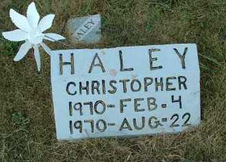 HALEY, CHRISTOPHER - Meigs County, Ohio | CHRISTOPHER HALEY - Ohio Gravestone Photos