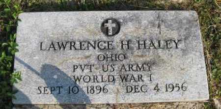 HALEY, LAWRENCE H. - Meigs County, Ohio | LAWRENCE H. HALEY - Ohio Gravestone Photos