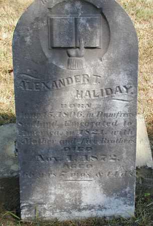 HALIDAY, ALEXANDER T. - Meigs County, Ohio   ALEXANDER T. HALIDAY - Ohio Gravestone Photos