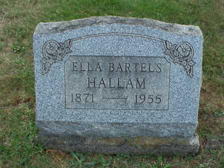 BARTELS HALLAM, ELLA - Meigs County, Ohio | ELLA BARTELS HALLAM - Ohio Gravestone Photos