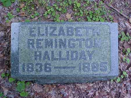 REMINGTON HALLIDAY, ELIZABETH - Meigs County, Ohio | ELIZABETH REMINGTON HALLIDAY - Ohio Gravestone Photos