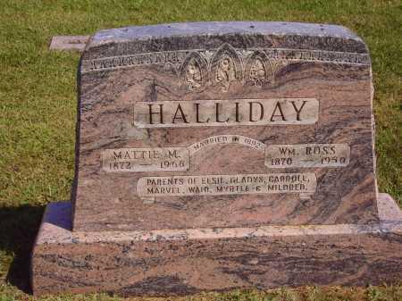 HALLIDAY, MATTIE MARTHA - MAIN MONUMENT - Meigs County, Ohio   MATTIE MARTHA - MAIN MONUMENT HALLIDAY - Ohio Gravestone Photos