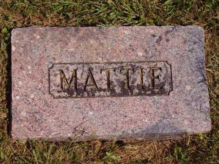 BOWLES HALLIDAY, MATTIE MARTHA - FOOTSTONE - Meigs County, Ohio | MATTIE MARTHA - FOOTSTONE BOWLES HALLIDAY - Ohio Gravestone Photos