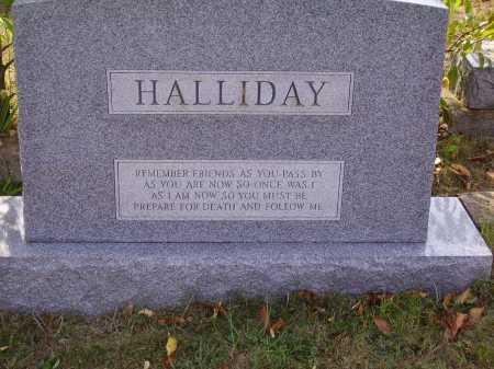 HALLIDAY, MONUMENT - Meigs County, Ohio | MONUMENT HALLIDAY - Ohio Gravestone Photos