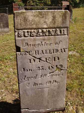 HALLIDAY, SUSANNAH - Meigs County, Ohio | SUSANNAH HALLIDAY - Ohio Gravestone Photos
