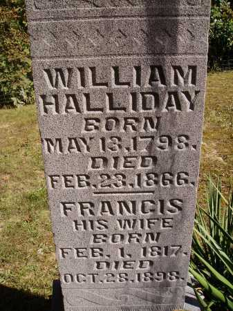 VONSCHRILTZ HALLIDAY, FRANCIS - Meigs County, Ohio | FRANCIS VONSCHRILTZ HALLIDAY - Ohio Gravestone Photos