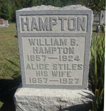 HAMPTON, WILLIAM BRADFIELD - Meigs County, Ohio | WILLIAM BRADFIELD HAMPTON - Ohio Gravestone Photos