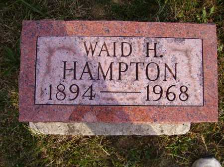 HAMPTON, WAID HARLEY - Meigs County, Ohio | WAID HARLEY HAMPTON - Ohio Gravestone Photos