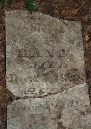 HANES, UNKNOWN - Meigs County, Ohio   UNKNOWN HANES - Ohio Gravestone Photos