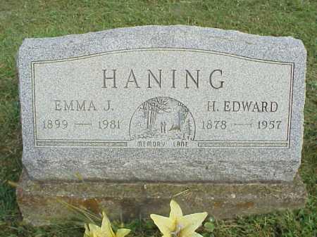 HANING, EMMA J. - Meigs County, Ohio | EMMA J. HANING - Ohio Gravestone Photos