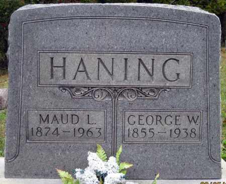 HANING, GEORGE W - Meigs County, Ohio   GEORGE W HANING - Ohio Gravestone Photos