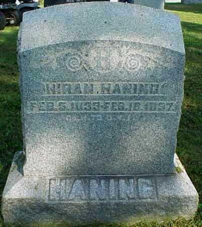 HANING, HIRAM - Meigs County, Ohio   HIRAM HANING - Ohio Gravestone Photos