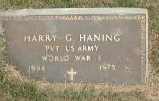 HANING, HARRY G. - Meigs County, Ohio | HARRY G. HANING - Ohio Gravestone Photos