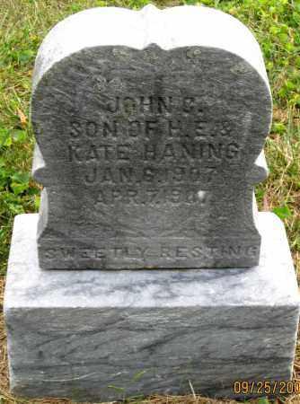 HANING, JOHN C. - Meigs County, Ohio | JOHN C. HANING - Ohio Gravestone Photos