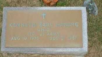 HANING, KENNETH EARL - Meigs County, Ohio | KENNETH EARL HANING - Ohio Gravestone Photos