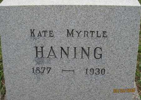 HANING, KATE MYRTLE - Meigs County, Ohio | KATE MYRTLE HANING - Ohio Gravestone Photos