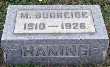 HANING, M. BURNEIGE - Meigs County, Ohio | M. BURNEIGE HANING - Ohio Gravestone Photos