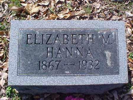 HANNA, ELIZABETH M. - Meigs County, Ohio | ELIZABETH M. HANNA - Ohio Gravestone Photos