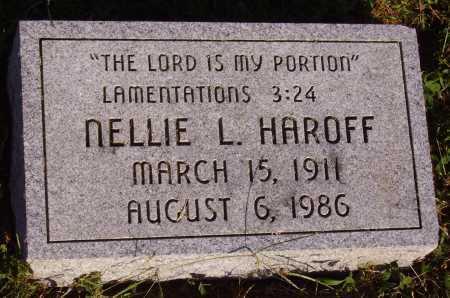 HAROFF, NELLIE L. - Meigs County, Ohio   NELLIE L. HAROFF - Ohio Gravestone Photos