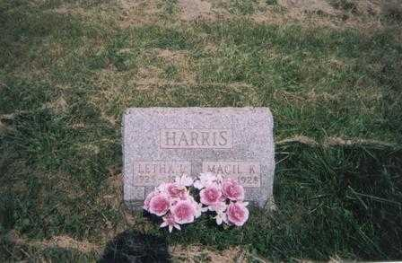HARRIS, MACIL - Meigs County, Ohio | MACIL HARRIS - Ohio Gravestone Photos