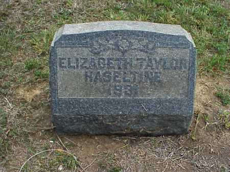 HASELTINE, ELIZABETH - Meigs County, Ohio | ELIZABETH HASELTINE - Ohio Gravestone Photos