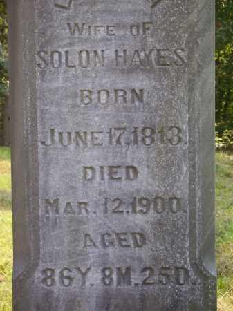 HAYES, LUCINDA - Meigs County, Ohio | LUCINDA HAYES - Ohio Gravestone Photos