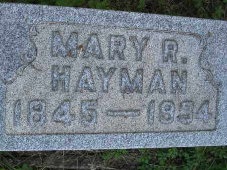 HAYMAN, MARY R - Meigs County, Ohio   MARY R HAYMAN - Ohio Gravestone Photos