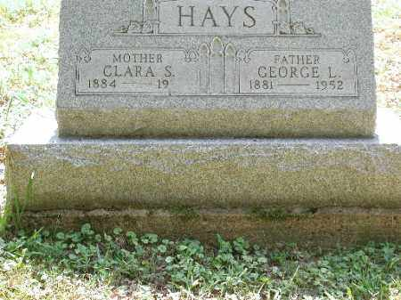 HAYS, CLARA S. - Meigs County, Ohio | CLARA S. HAYS - Ohio Gravestone Photos