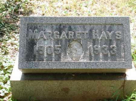 HAYS, MARGARET - Meigs County, Ohio | MARGARET HAYS - Ohio Gravestone Photos