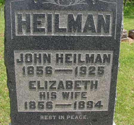 HEILMAN, ELIZABETH - Meigs County, Ohio | ELIZABETH HEILMAN - Ohio Gravestone Photos